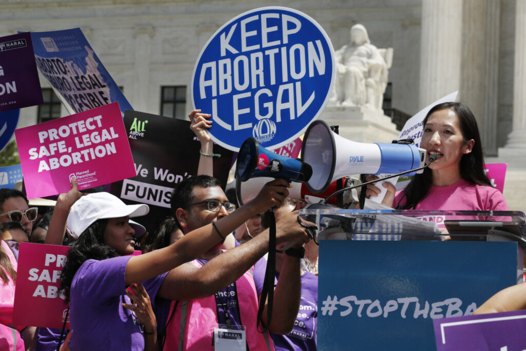 President of Planned Parenthood Leana Wen speaks during a protest against abortion bans in May outside the Supreme Court in Washington. She has been forced out of her leadership position by the board of directors.