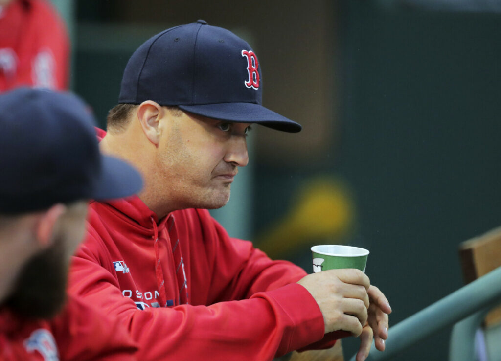 The Boston Red Sox placed pitcher Steven Wright on the injured list with a bruised right foot after he was struck by a line drive by Max Muncy on Saturday night.