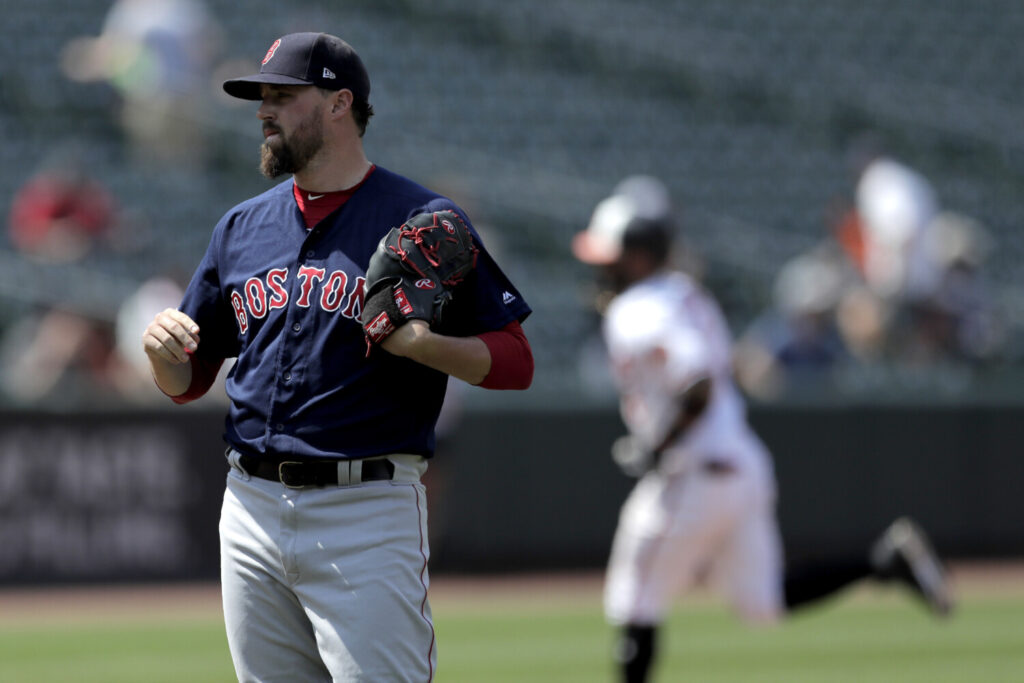 It was a strange weekend in Baltimore for the Red Sox and reliever Heath Hembree, who allowed a home run Sunday. Boston lost two of three, scoring 17 runs on Saturday, then managing just one hit on Sunday.
