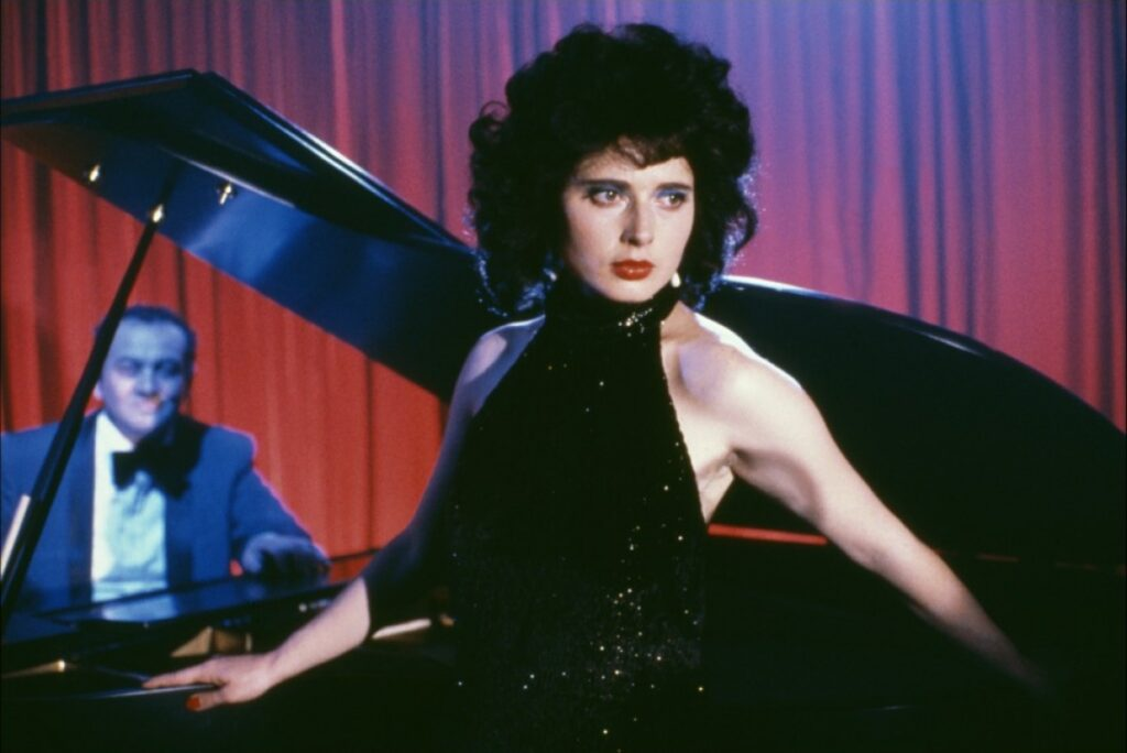 "Isabella Rossellini appears in a scene from ""Blue Velvet."""