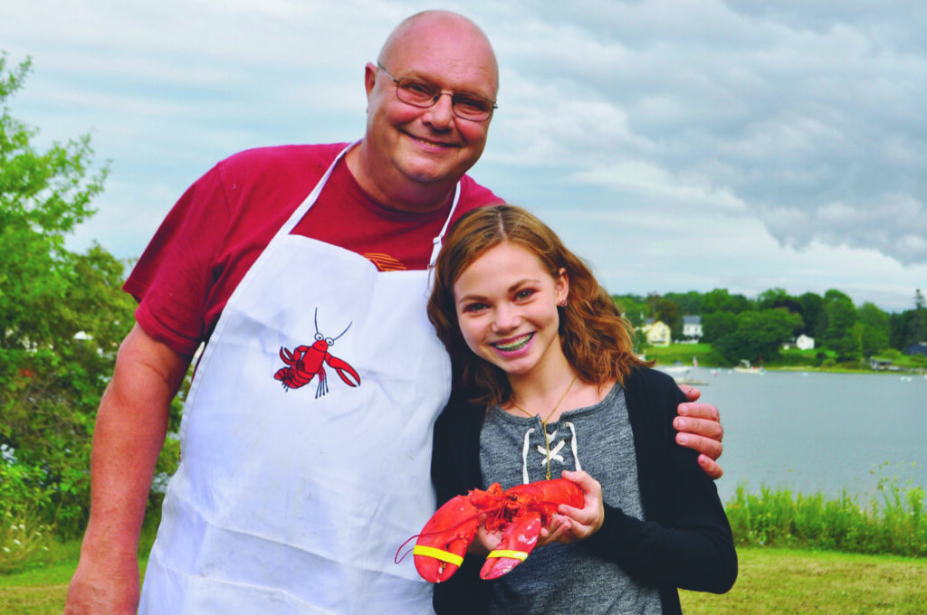 Lobster King Bruce Bachelder and this year's Lobster Princess, Grace Langworthy.