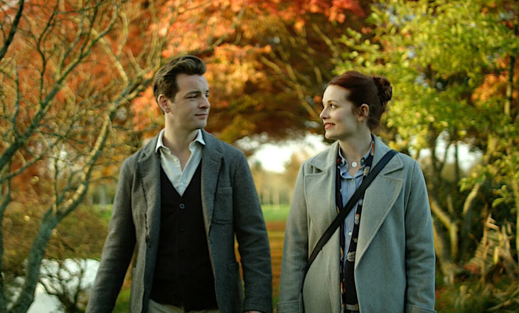 """Cara Theobold and Gethin Anthony are seen in """"Around the Sun,"""" which is having its New England premiere at the Maine International Film Festival in Waterville."""