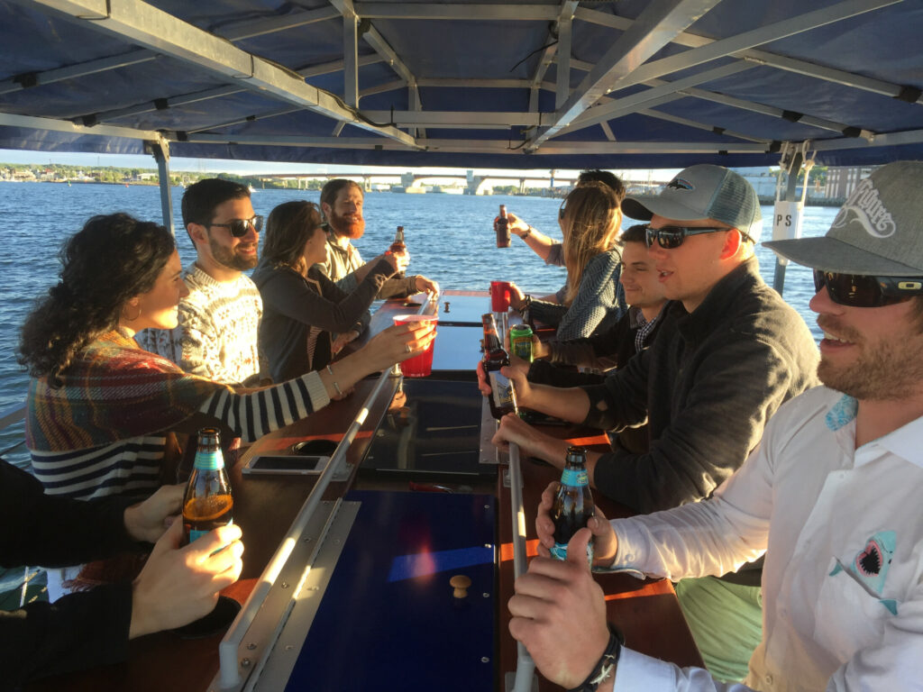 Biking and beer go together well on a BayCycle Cruise around Casco Bay.
