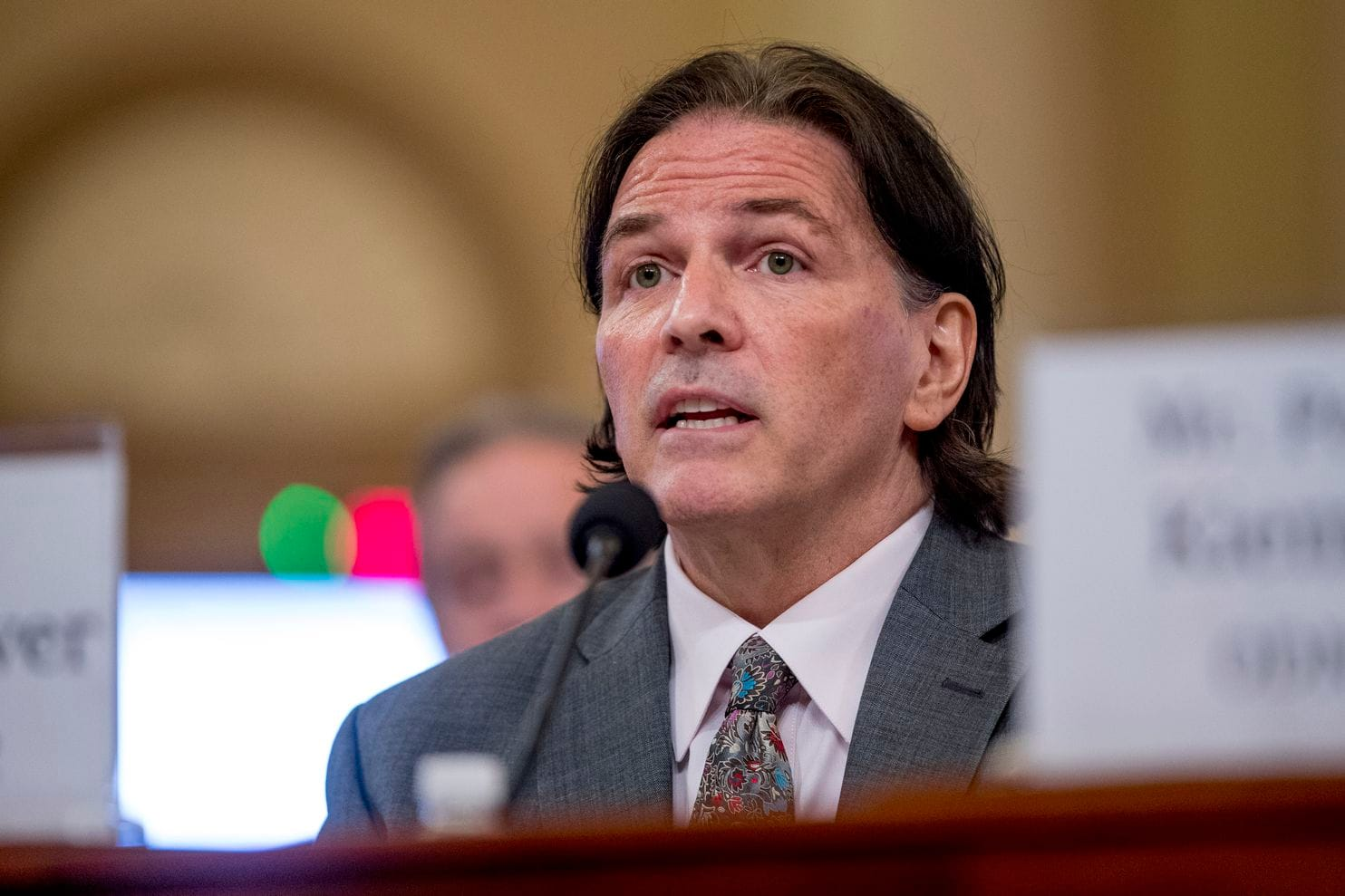 Rod Schoonover, an intelligence official at the State Department, speaks at a House Intelligence Committee hearing in June.