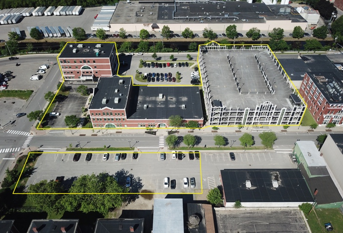 The six-parcel Gateway development in downtown Lewiston, which includes Northeast Bank, and was the focus of a revitalization effort by the city and private developers, has been sold to an out-of-town developer who invests in college towns.