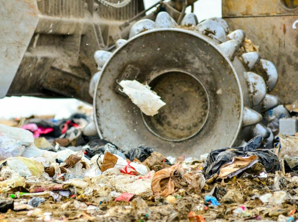 A plastic shopping bag blows in the wind Jan. 4 at the Hatch Hill Solid Waste Facility in Augusta. There has not been a full-time landfill manager since 2011, but the city's public works director says it is time to hire someone to take on the role as their main responsibility.