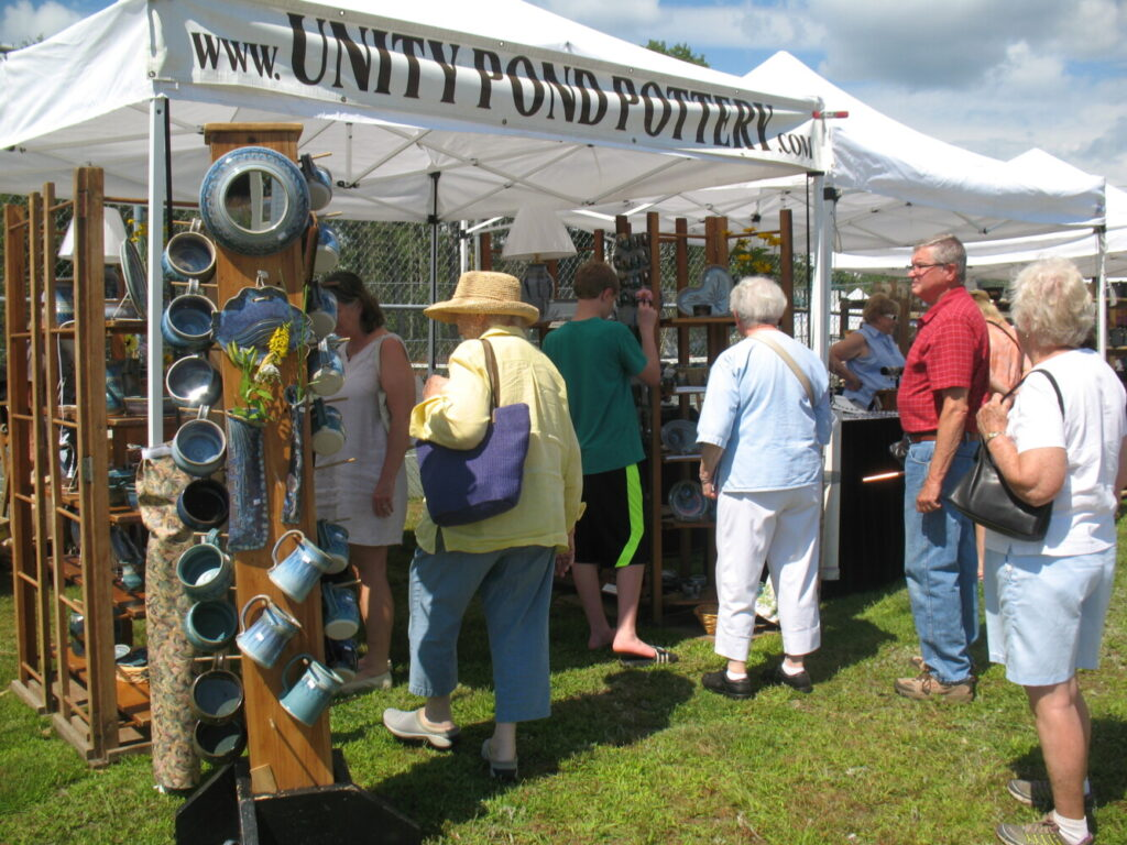 Unity Pond Pottery will be one of the many vendors displaying their wares at ART IN AUGUST, an open-air art exhibit and sale in Oquossoc Park on Thursday, August 1, 2019 from 10 AM to 4 PM. Sponsored by the Rangeley Friends of the Arts - www.rangeleyarts.org