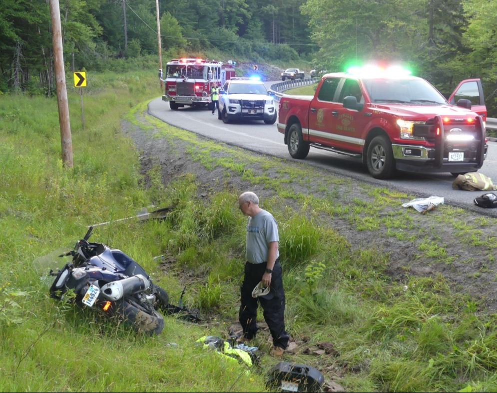 Keith Massey, 46, and his wife, Melissa Massey, 47, of Muskegon, Michigan were injured Thursday night when the motorcycle they were riding on failed to negotiate one of the sharp S-turns on Route 4 in Sandy River Plantation.