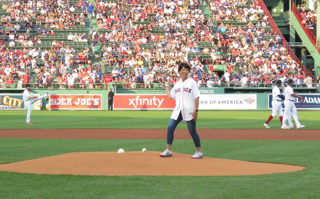 Michelle Lemieux's Fenway first pitch a 'once-in-a-lifetime