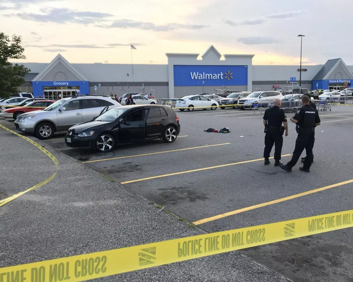 Police are investigating a shooting in the parking lot of the Walmart on Mount Auburn Avenue in Auburn on Saturday evening.