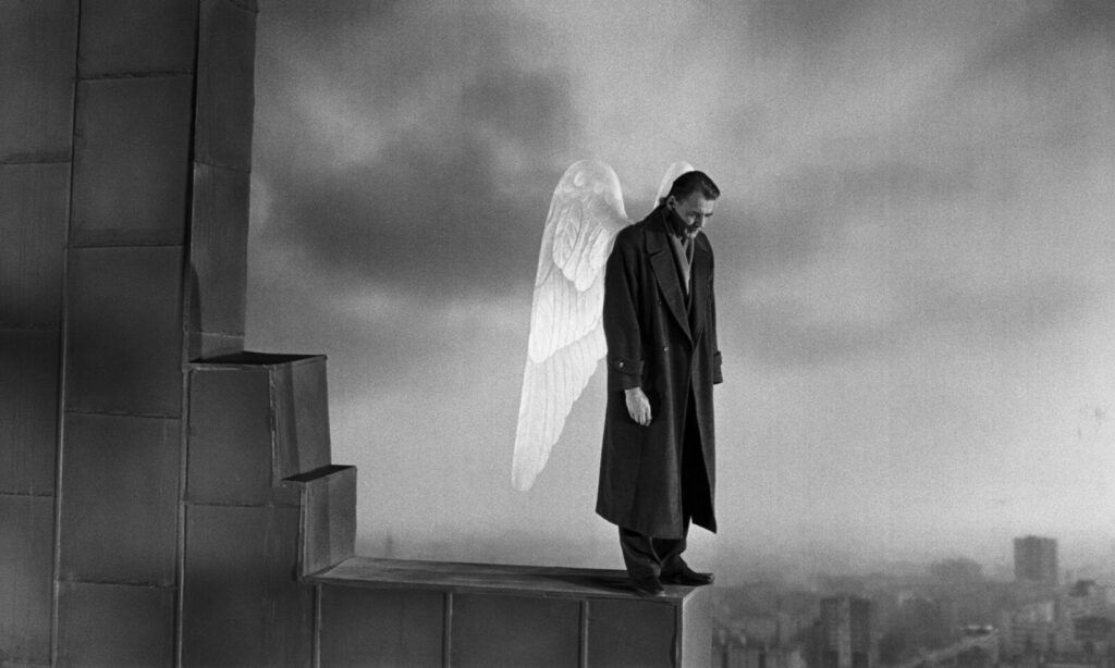 "Bruno Ganz in a scene from ""Wings of Desire."""