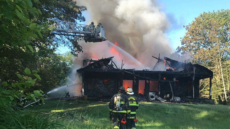 Firefighters battled a house fire on Musselman Road in Standish in the early morning hours Monday.