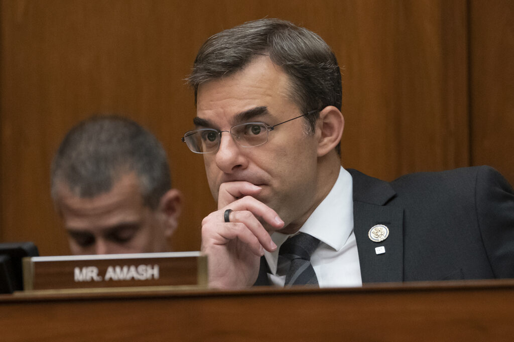 Rep. Justin Amash, R-Mich., will seek the Libertarian Party's nomination for president.