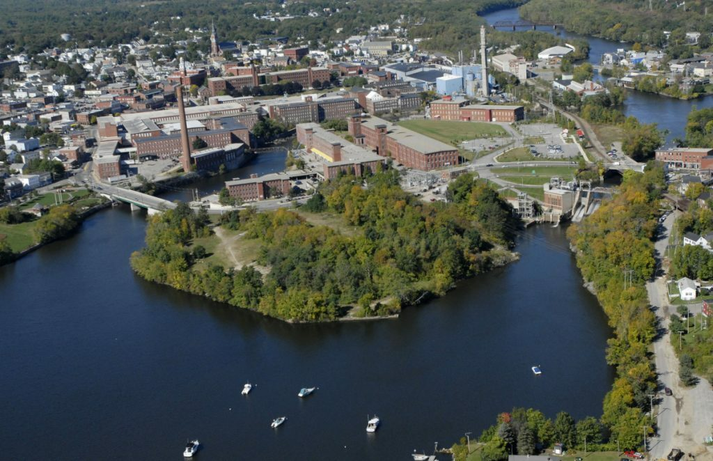 Saco Island, which lies between the downtowns of Biddeford and Saco, is the site of a 24-unit housing development approved this week by the Saco Planning Board.