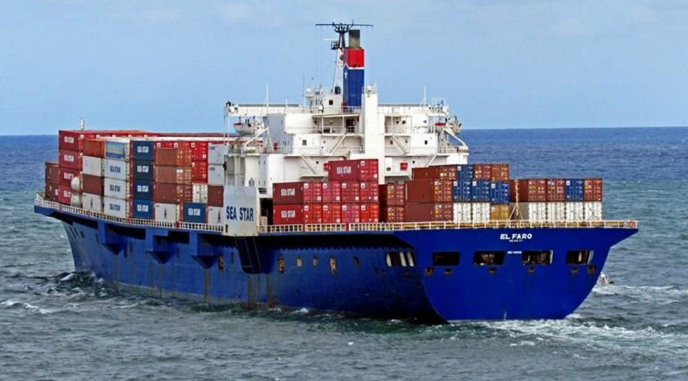 The cargo ship El Faro sank in a hurricane on Oct. 1, 2015.
