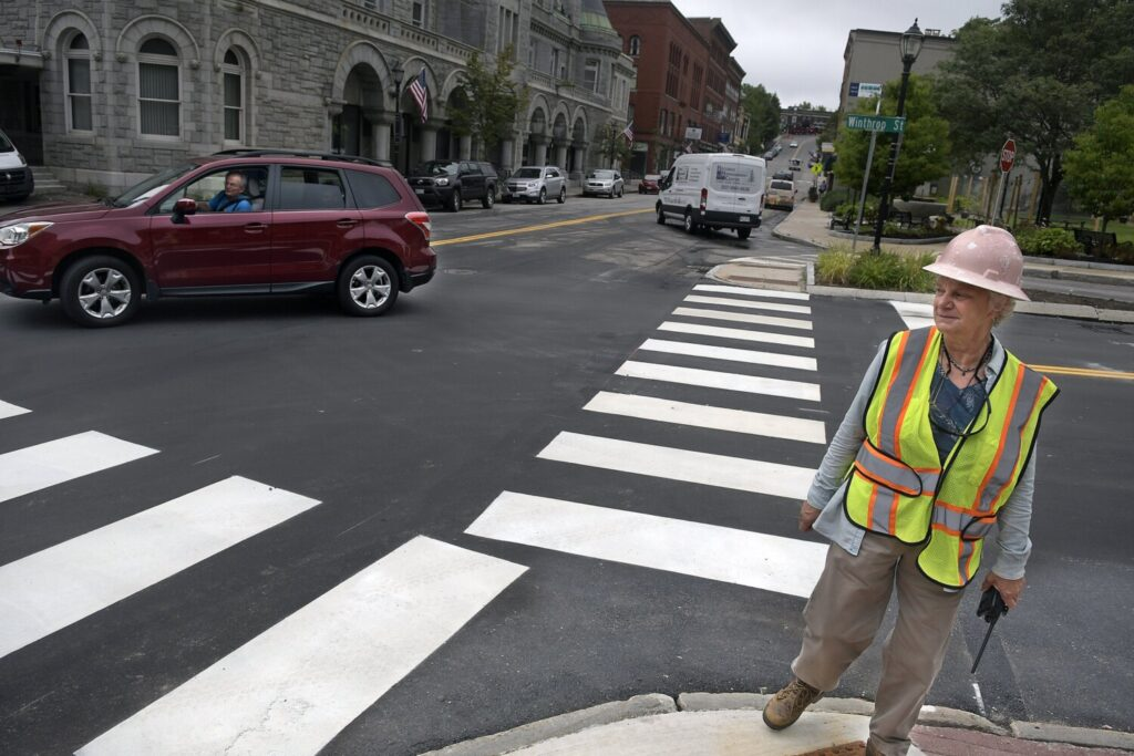 Augusta Public Works Director Lesley Jones says she cannot keep up with the responsibilities at the Hatch Hill landfill and says a landfill director is needed.Jones is surveying the cross walks for the new travel pattern Aug. 19 on Water Street.