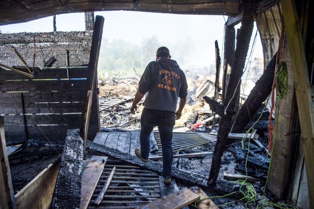 Fire destroys Clinton horse barn and apartment, five ...