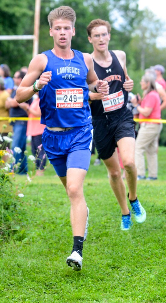 Lawrence's Josiah Webber finished 6th in the Laliberte Invitational on Aug. 30 in Augusta.