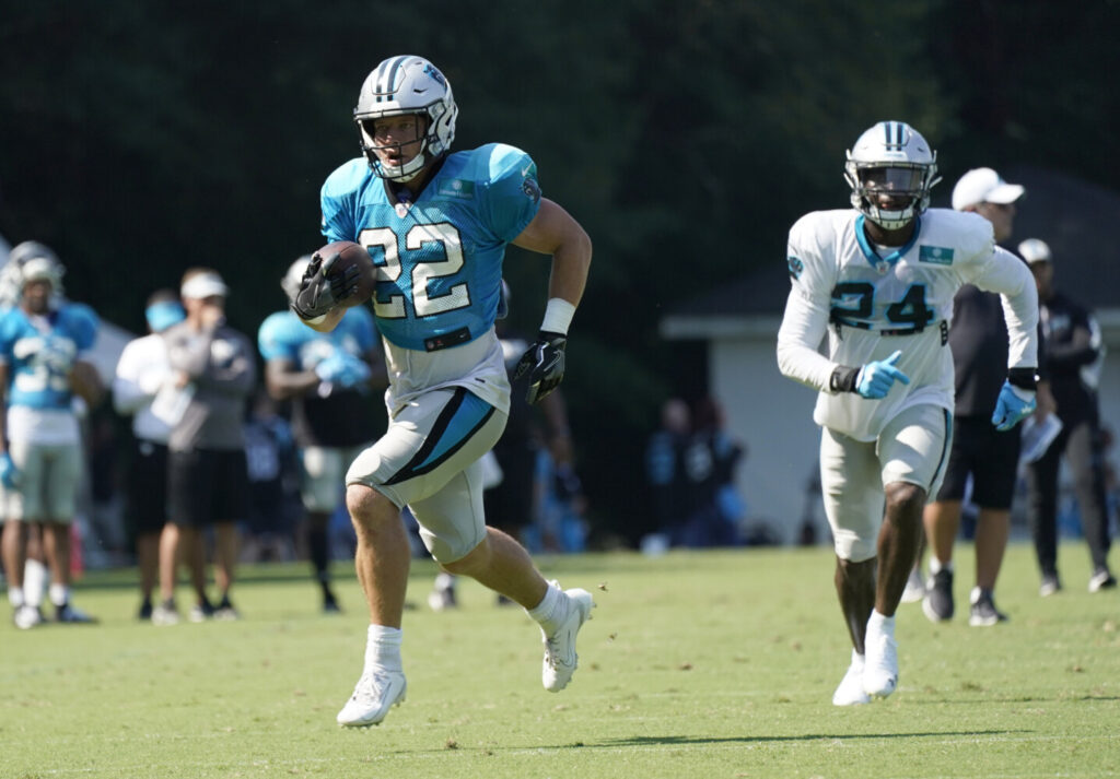 Christian McCaffrey had 1,965 yards from scrimmage last year. The Panthers hope to give him more touches, will but have him on the field for fewer plays.