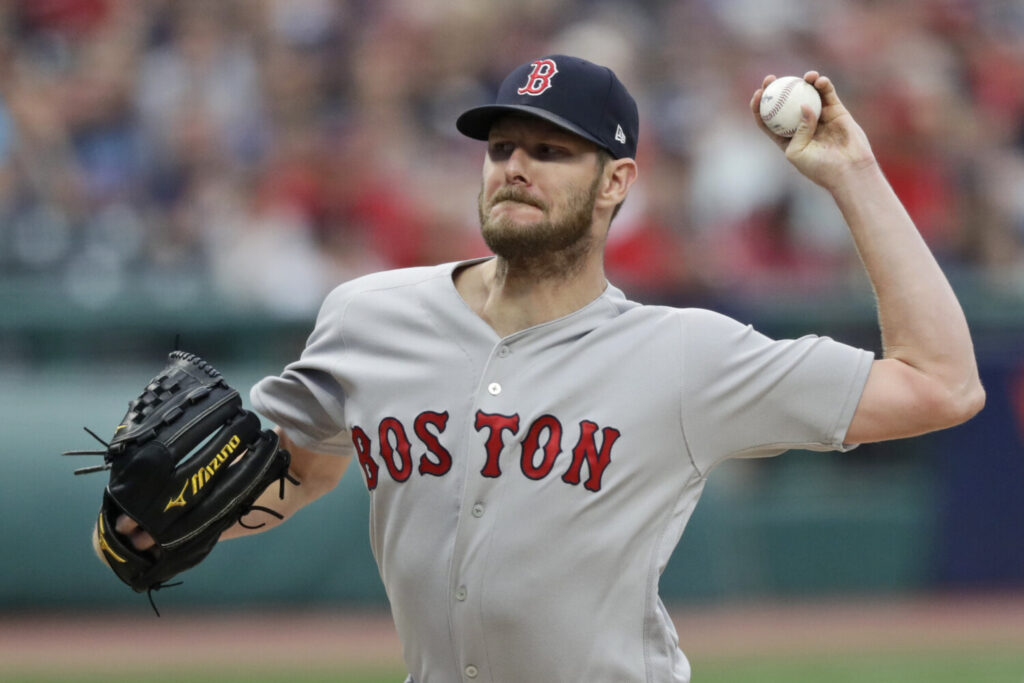 Boston Red Sox starting pitcher Chris Sale was placed on the injured list Saturday with left elbow inflammation.