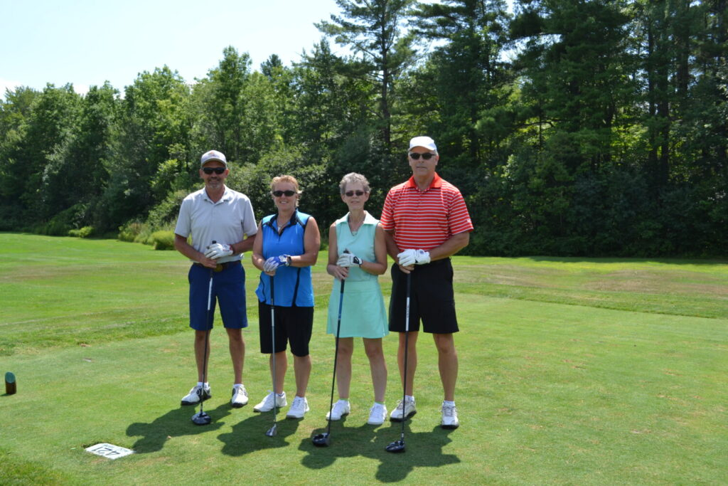 Exclusive Cart Sponsor Central Maine Power golf team members from left are Tim Robbins, Carol Bradel, Susan Clary and Eric Stinneford.