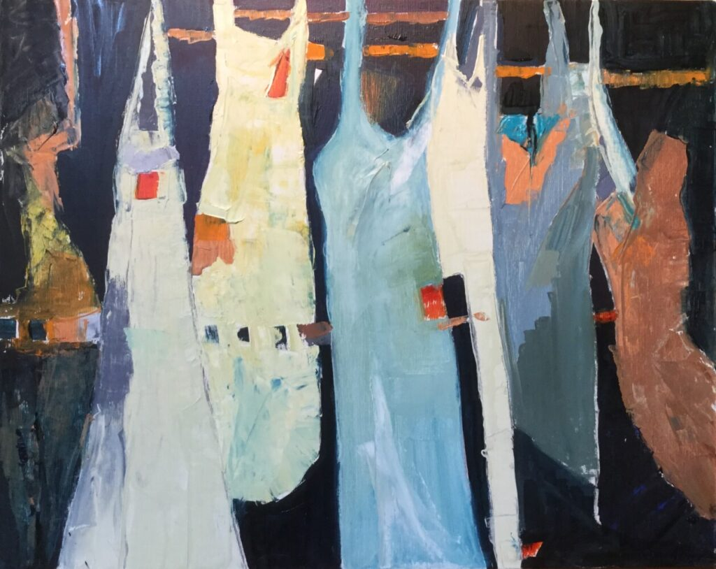 "Carol Wiley's solo show ""Figures and Shapes"" will be on view at River Arts in Damariscotta through Sept. 4."
