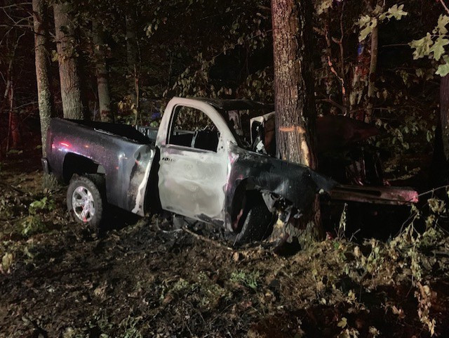 York County Sheriff's Deputy Kevin Collins pulled Dylan Tardif, 17, from the pickup truck he was driving that left New Dam Road in Waterboro and crashed into a tree.