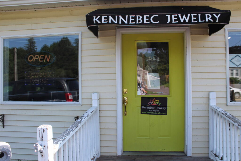 A view of the front of Kennebec Jewelry, located at 501 Maine Ave. in Farmingdale.