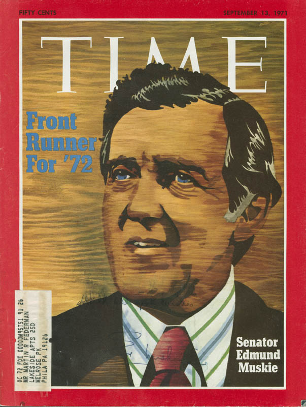 During his 1972 presidential race, Maine's Edmund Muskie faced at least three death threats   Lewiston Sun Journal