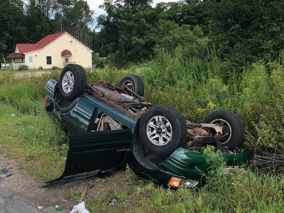 Three people were injured, one of them seriously, in a two-car collision that forced authorities to close Route 236 in South Berwick.