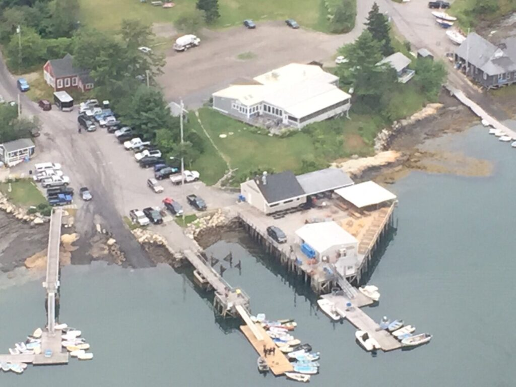 The Maine Marine Patrol posted this photo on its Facebook page to show the area of the search for a man whose skiff was found adrift in Round Pond Harbor on Tuesday.