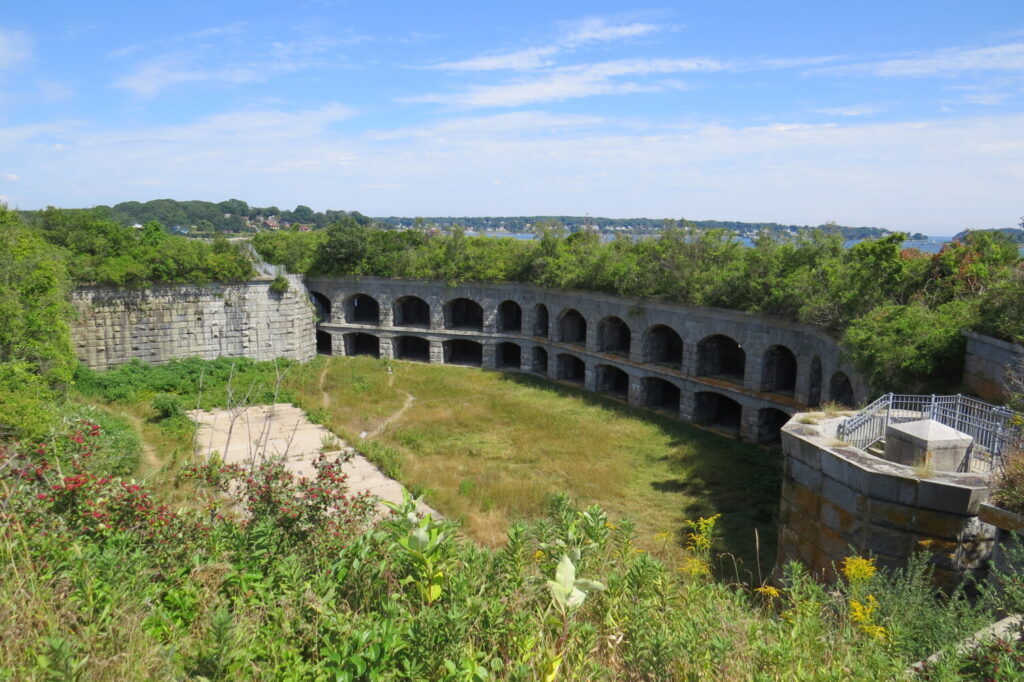 The interior of Fort Gorges