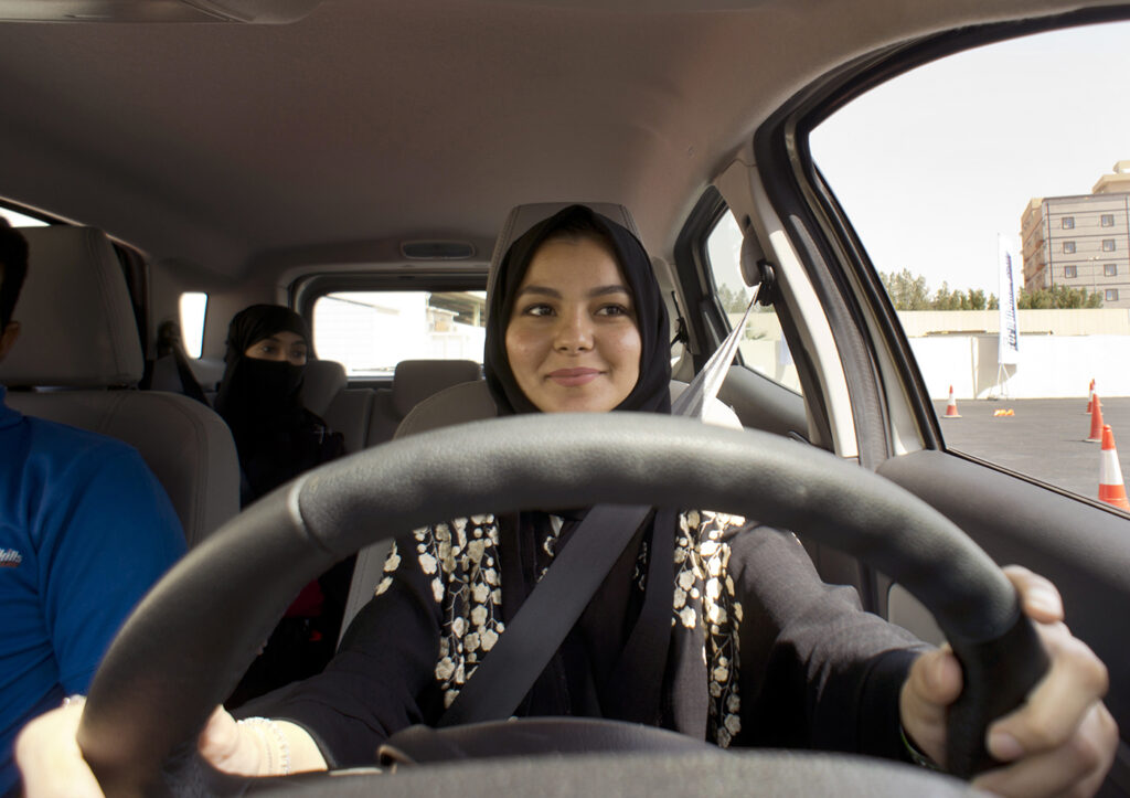 Saudi women were granted the right to drive in 2018.