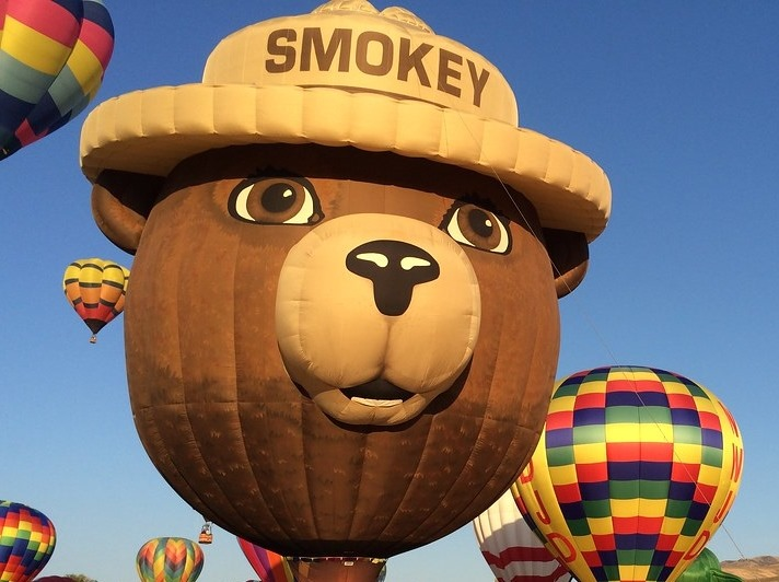 A Smokey the Bear balloon, coming this week to the Great Falls Balloon Festival, which starts Friday. Great Falls Balloon Festival photo