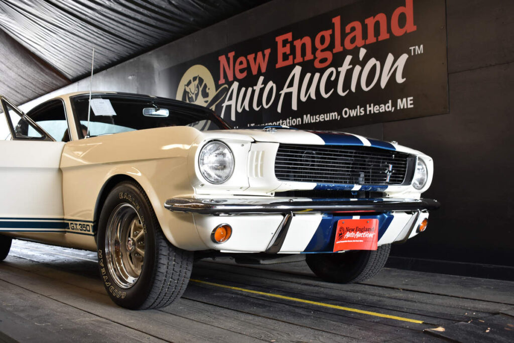 A 1966 Shelby Carryover took the top bid at this year's New England Auto Auction, selling for $291,500.