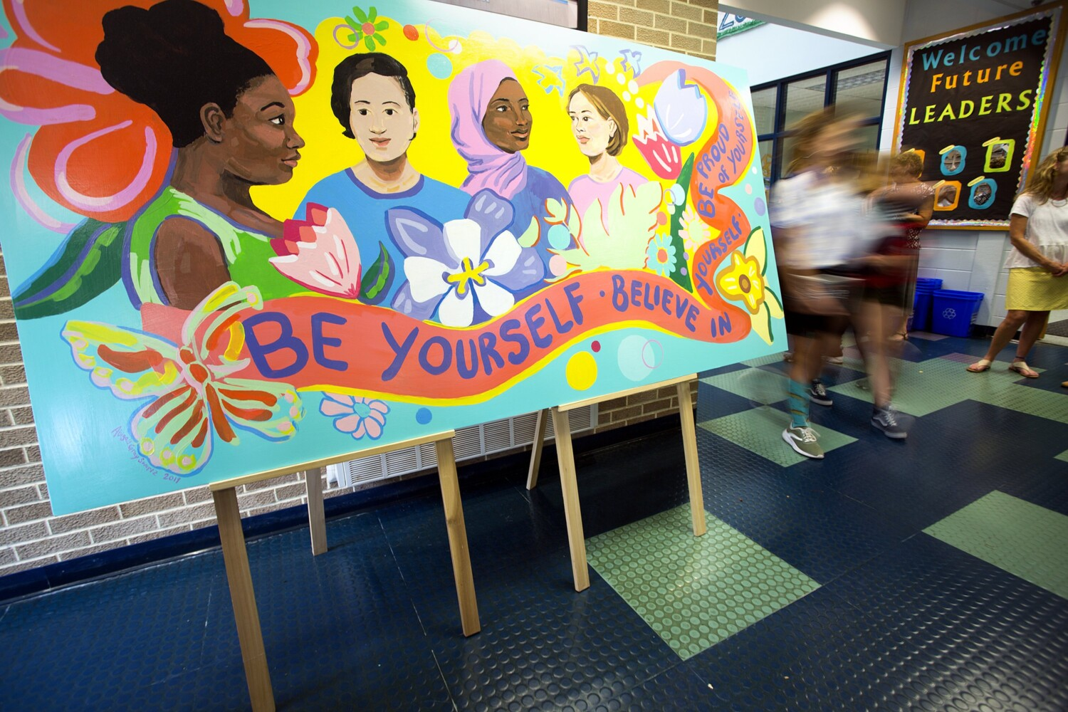Portland students beautify school bathrooms after identifying them as a vulnerable space - CentralMaine.com