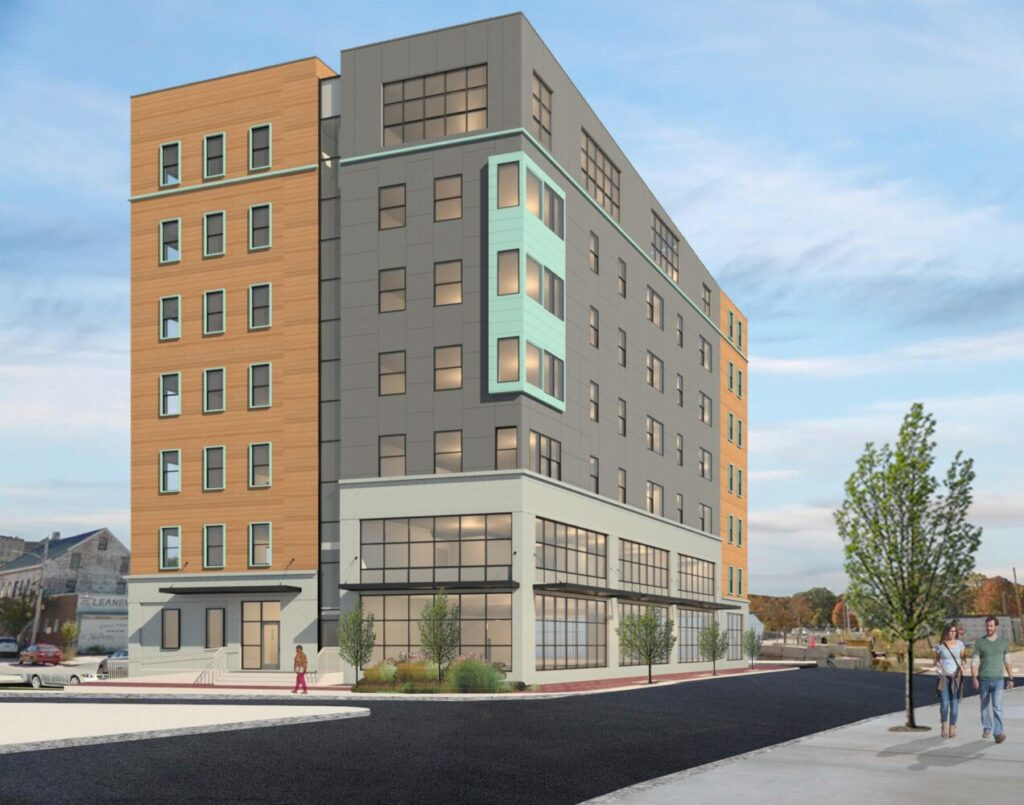 Rendering of new housing planned for 178 Kennebec St. in Portland.