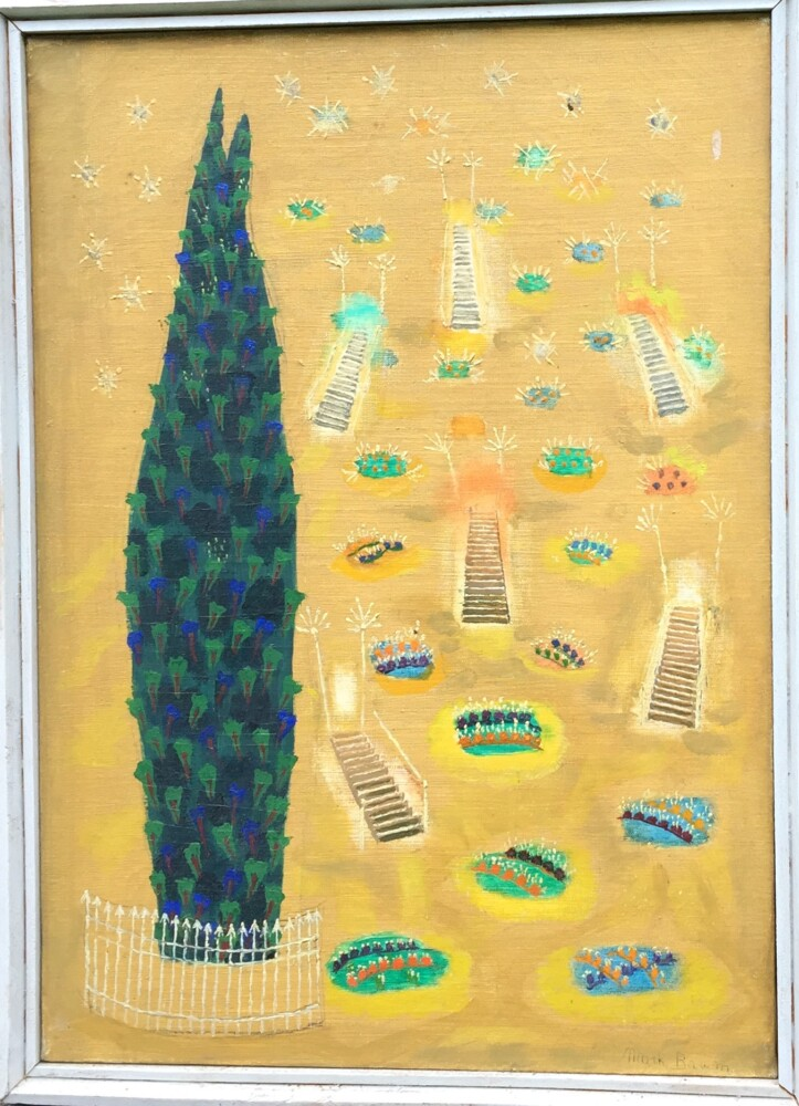 """""""Garden of the Guarded Tree"""" by Mark Baum, 1955."""