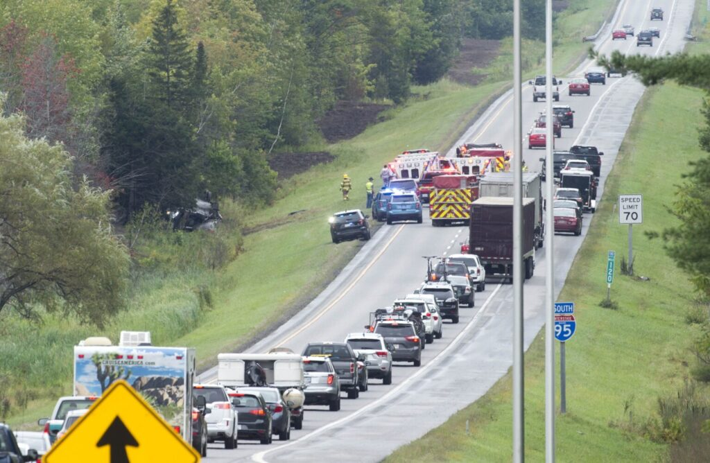 Rollover accident on I-95 caused by medical issue