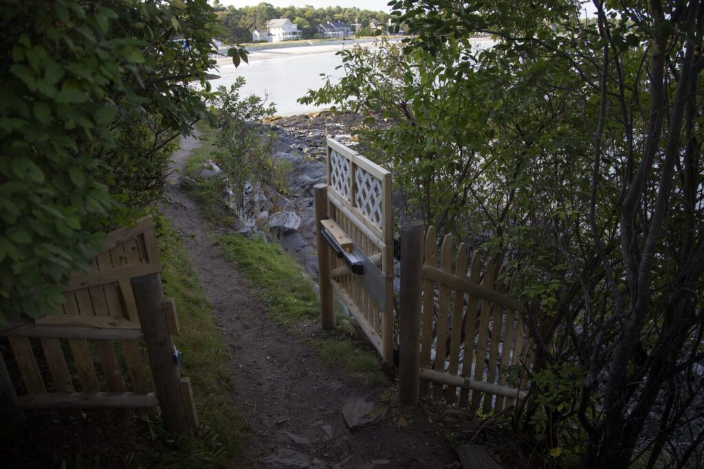 The Prouts Neck Association raised the ire of fans of the Cliff Walk recently when it installed gates at each end of the mile-long path flanked by the Atlantic Ocean and multimillion-dollar homes. The association said the gates will be closed at night – to eliminate disruptive behavior on the path – and during inclement weather.