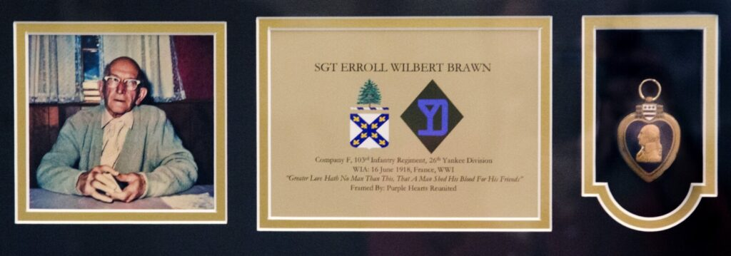 Purple Hearts Reunited presented the medal of Sgt. Erroll Wilbert Brawn to the Maine Army National Guard on Thursday at Camp Chamberlain in Augusta.