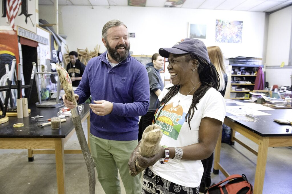 PHOTOS: Nairobi artist creating art with local high school students | Lewiston Sun Journal