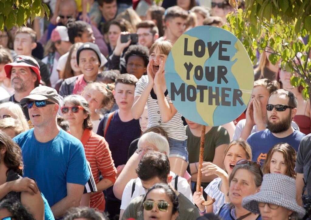 Over 2,000 people filled City Hall Plaza to hear speakers and call for action to combat climate change.