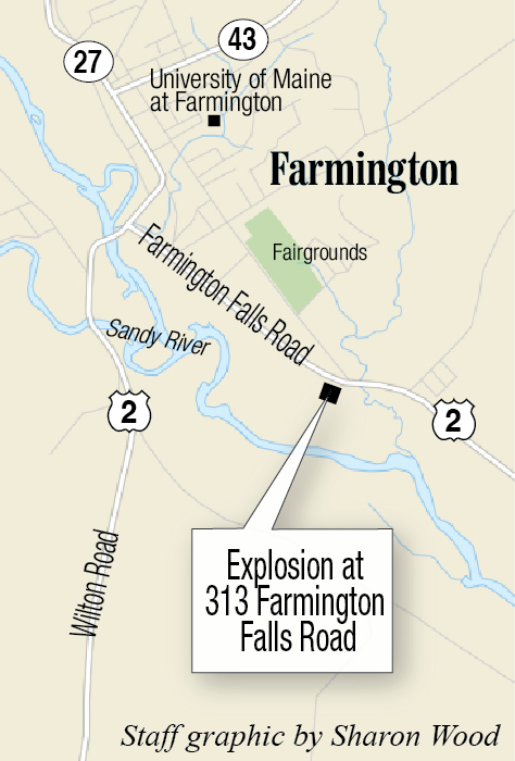 Emergency crews rush to scene of an explosion in Farmington - CentralMaine.com