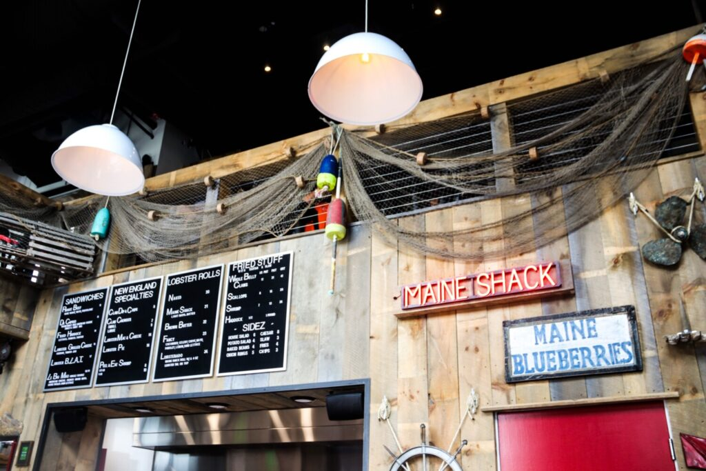 A view of the interior of Augusta native Drew Ryan's restaurant, Maine Shack, in Denver.