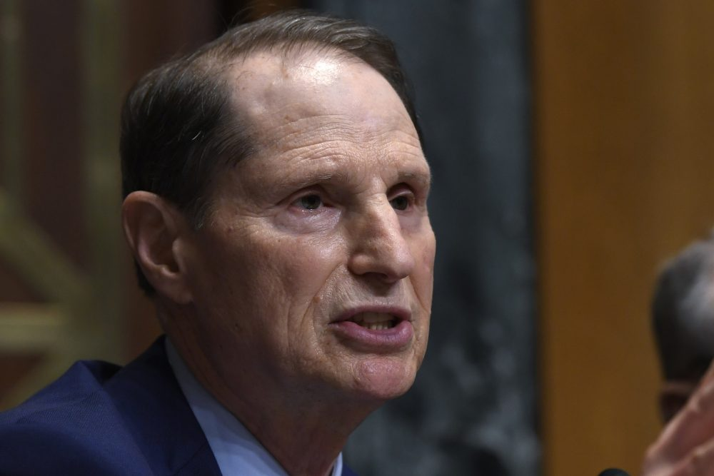 Senate Finance Committee ranking member Sen. Ron Wyden, D-Ore., speaks April 9 during a hearing on Capitol Hill in Washington.