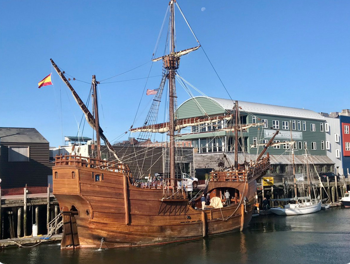 Replica of Columbus' Santa Maria docks in Portland harbor - CentralMaine.com