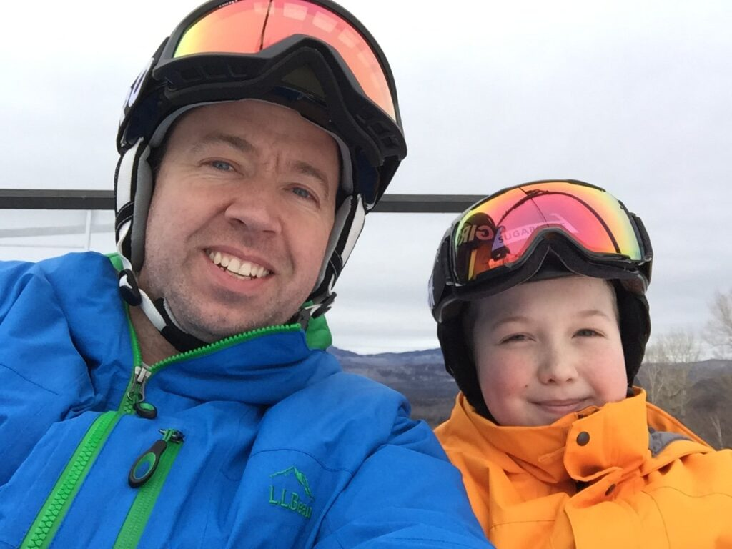 "Seth and Ethan Helie on a snowboarding trip before Seth was diagnosed with brain cancer. ""The toughest thing that I have ever had to do was to call Ethan that afternoon to give him this news,"" Amy Helie said. ""I remember just sitting there on the phone in silence while he cried."""