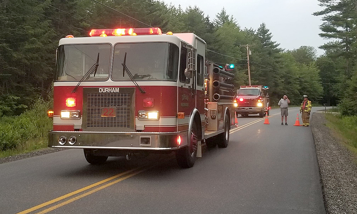 Firefighters stop kitchen fire from spreading in Durham | Lewiston Sun Journal