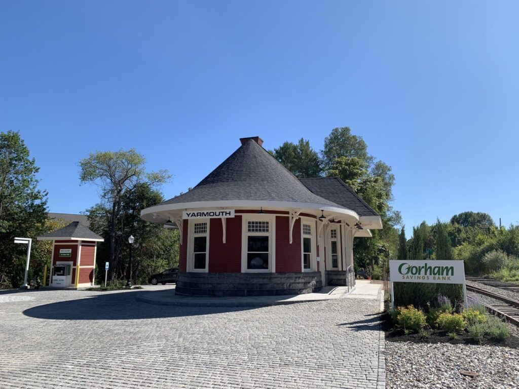 Gorham Savings Bank has opened a new branch in the historic Grand Trunk Railroad Depot on Main Street in Yarmouth after a year-long restoration project.
